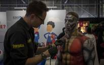 Comic Con Africa goers swarmed into the Kyalami Race Track convention centre in all manners of fancy dress. Picture: Thomas Holder/EWN