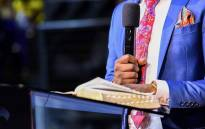 FILE: Pastor Shepherd Bushiri reads the Bible during a church service at his Enlightened Christian Gathering Church. Picture: @shepherdbushiriministries/Facebook.com.