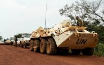 A general view of electoral official's convoy escorted by MINUSCA (United Nations Multidimensional Integrated Stabilization Mission in the Central African Republic) on the road to Bocaranga, Central African Republic, on 23 September 2020. Picture: AFP