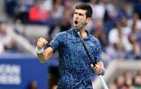 Novak Djokovic celebrates a point. Picture: @usopen/Twitter