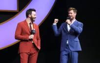 'Avengers' actors Chris Evans and Chris Hemsworth. Picture: @marvelstudios/Facebook.com.