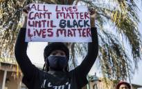 The Economic Freedom Fighters held a solidarity protest with the 'Black Lives Matter' movement outside the US embassy in Pretoria. Pictures: Abigail Javier/EWN