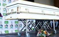 The casket carrying the body of Lindani Myeni. Picture: KZN Government.