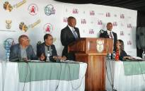 Deputy President David Mabuza at the 2018 World Aids Day event in Dobsonville. Picture: @SAGGovNews/Twitter.