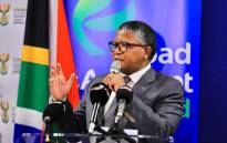 Transport Minister Fikile Mbalula at a Road Accident Fund (RAF) briefing on 7 June 2021. Picture: @MbalulaFikile/Twitter