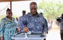 Tanzania's incumbent president and presidential candidate of ruling party Chama Cha Mapinduzi (CCM) John Magufuli casting his election ballot on 28 October 2020. Picture: @ccm_tanzania/Twitter