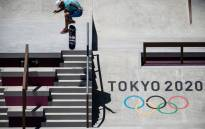 France's Aurelien Giraud practices at Ariake Urban Sports Park ahead of the Tokyo 2020 Olympic Games in Tokyo, on 22 July 2021. Picture: Jeff Pachoud/AFP