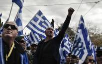 Protesters take part in a demonstration near the Greek Parliament against the agreement with Skopje to rename neighbouring country Macedonia as the Republic of North Macedonia, on 20 January 2019 in Athens. Picture: AFP