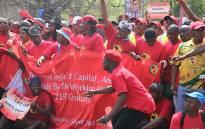FILE: Striking NUMSA members march in Randburg. Picture: EWN.