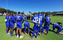 Cape Town City coach Benni McCarthy, centre, addresses players during a training session. Picture: @ CapeTownCityFC/Facebook.com.