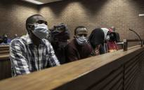 The six men accused of carrying out a violent vigilante attack in Zandspruit appeared in the Roodepoort Magistrates Court on 9 June 2021 on charges of murder, attempted murder, and kidnapping. Picture: Boikhutso Ntsoko/Eyewitness News
