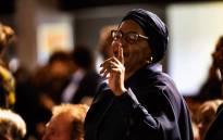 Nomvula Mokonyane at Gavin Watson's memorial service in Roodepoort, west of Johannesburg. Picture: Kayleen Morgan/EWN.