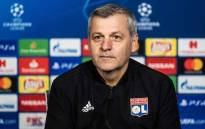 Lyon's French coach Bruno Genesio gives a press conference, on 18 February 2019 in Decines-Charpieu, on the eve of the UEFA Champions League football match Lyon vs Barcelona. Picture: AFP