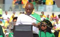 ANC president Cyril Ramaphosa delivering the party's 2019 elections manifesto in Durban on 12 January 2019. Picture: Supplied