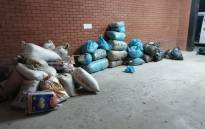 Bags of dagga seized during a police operation in the Eastern Cape.  Picture: @SAPoliceService/Twitter.
