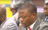 A screenshot of representatives of Shepherd Bushiri's Enlightened Christian Gathering Church appear before the CRL Commission hearing into the deadly stampede at the church in December.
