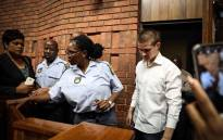 Nicholas Ninow, the man accused of raping a seven-year-old girl in a restaurant bathroom in Pretoria, appears in the Magistrates Court in Pretoria. Picture: Abigail Javier/EWN.