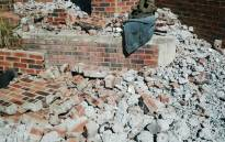 Some of the rubble from the earthquake in Orkney. Picture: Twitter @ER24EMS