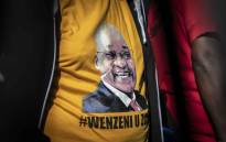 A printed T-shirt with the face of former President Jacob Zuma. Picture: Abigail Javier/EWN