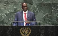 FILE: South Sudan's First Vice President Taban Deng Gai speaks during the General Debate of the 73rd session of the General Assembly at the United Nations in New York on 28 September 2018. Picture: AFP