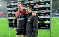 The Kings' Scott van Breda (left) with his Man of the Match award after helping his side to a victory over the Ospreys in the Pro14 match on 9 November 2019. Picture: @SouthernKingsSA/Twitter