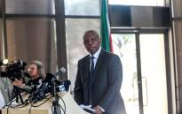 Heman Mashaba announces his resignation as Johannesburg mayor on 21 October. Picture: Kayleen Morgan/EWN