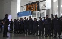 Rail enforcement officers at the Cape Town train station. Picture: Cindy Archillies/EWN.