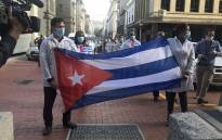 A delegation of Cuban healthcare workers arrived in the Western Cape on 24 May 2020 to help with the province's fight against the rapid spread of COVID-19. Picture: Kevin Brandt/EWN.