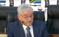 Kevin Wakeford testifying at the Zondo commission of inquiry into state capture on 6 May 2021. Picture: Supplied