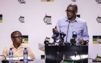 FILE: ANC national spokesperson Dakota Legoete (left) and ANC secretary-general Ace Magashule. Picture: Abigail Javier/EWN