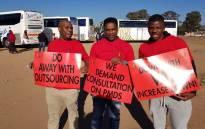 Popcru members prepare for their march in Pretoria on 13 July 2018. Picture: @POPCRU1989/Twitter