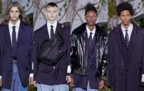 Models showcase suits by Off-White label designer Abloh, the  first African American to lead a major French luxury brand. Picture: instagram.com