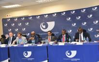 Competition Commission officials, together with Trade and Industry Minister Ebrahim Patel, presented findings on the Market Services Data Inquiry on 2 December 2019. Picture: @CompComSA/Twitter