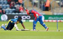 Sri Lanka suffered a dramatic collapse in their World Cup match against Afghanistan on Tuesday, with Mohammad Nabi wreaking havoc with three wickets in five balls. Picture: @cricketworldcup/Twitter