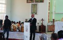 Energy Minister Jeff Radebe gives the key address at the centenary celebration of Albertina Sisulu at the Holy Cross Anglican Church in Soweto on 21 October 2018. Picture: @SAgovnews/Twitter