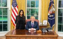 FILE: Kim Kardashian West met US President Donald Trump at the White House on 30 May 2018 to discuss prison reform. Picture: Twitter/@realDonaldTrump