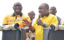 President Cyril Ramaphosa (right) and Gauteng Premier David Makhura on the election campaign trail on 18 March 2019. Picture: @MYANC/Twitter