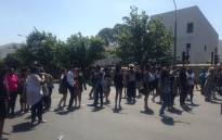 Protesting Maties students. Picture: Shamiela Fisher/EWN.