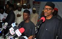 Nigerian president-elect Muhammadu Buhari (R). Picture: AFP.