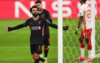Liverpool's Mohamed Salah celebrates his goal against RB Leipzig during their UEFA Champions League match on 16 February 2021. Picture: @LFC/Twitter
