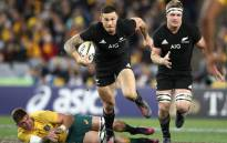 FILE: New Zealand's Sonny Bill Williams slips the tackle of his Australia opponent during their Rugby Championship match. Picture: @AllBlacks/Twitter