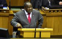 FILE: Finance Minister Tito Mboweni delivers his Medium-Term Budget Policy Statement on 24 October 2018 in Parliament. Picture: @ParliamentofRSA/Twitter.