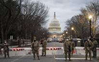 Members of the US National Guard stand watch at the US Capitol in Washington, DC on 17 January 2021. Picture: AFP