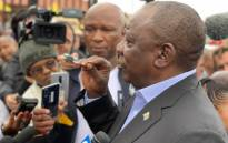 ANC president Cyril Ramaphosa addresses media after casting his ballot in Soweto, Johannesburg on 8 May 2019. Picture: @MYANC/Twitter