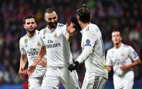 Real Madrid players celebrate a goal in their Champions League match on 8 November 2018. Picture: @ChampionsLeague/Twitter