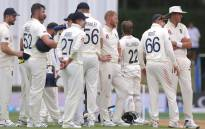 England's players wait for a decision against New Zealand's captain Kane Williamson during the fifth day of the second cricket Test match between England and New Zealand at Seddon Park in Hamilton on 3 December 2019. Picture: AFP