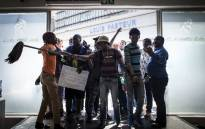 Tshwane University Of Technology's (TUT) students protest on campus in Pretoria on 26 September, 2016. Picture: AFP