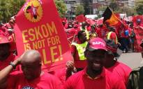FILE: Numsa, Cosatu protest outside Eskom offices. Picture: Eyewitness News.