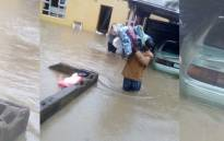Flooding in Port St John in the Eastern Cape. Picture: Supplied.