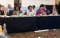 Officials at the Commission for Gender Equality's hearings into the state of women's shelters in South Africa on 2 December 2019. Picture: @CGE_ZA/Twitter